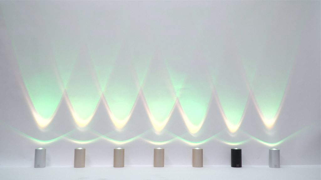 CAN LED Strahler in Wave Modus helle Wand