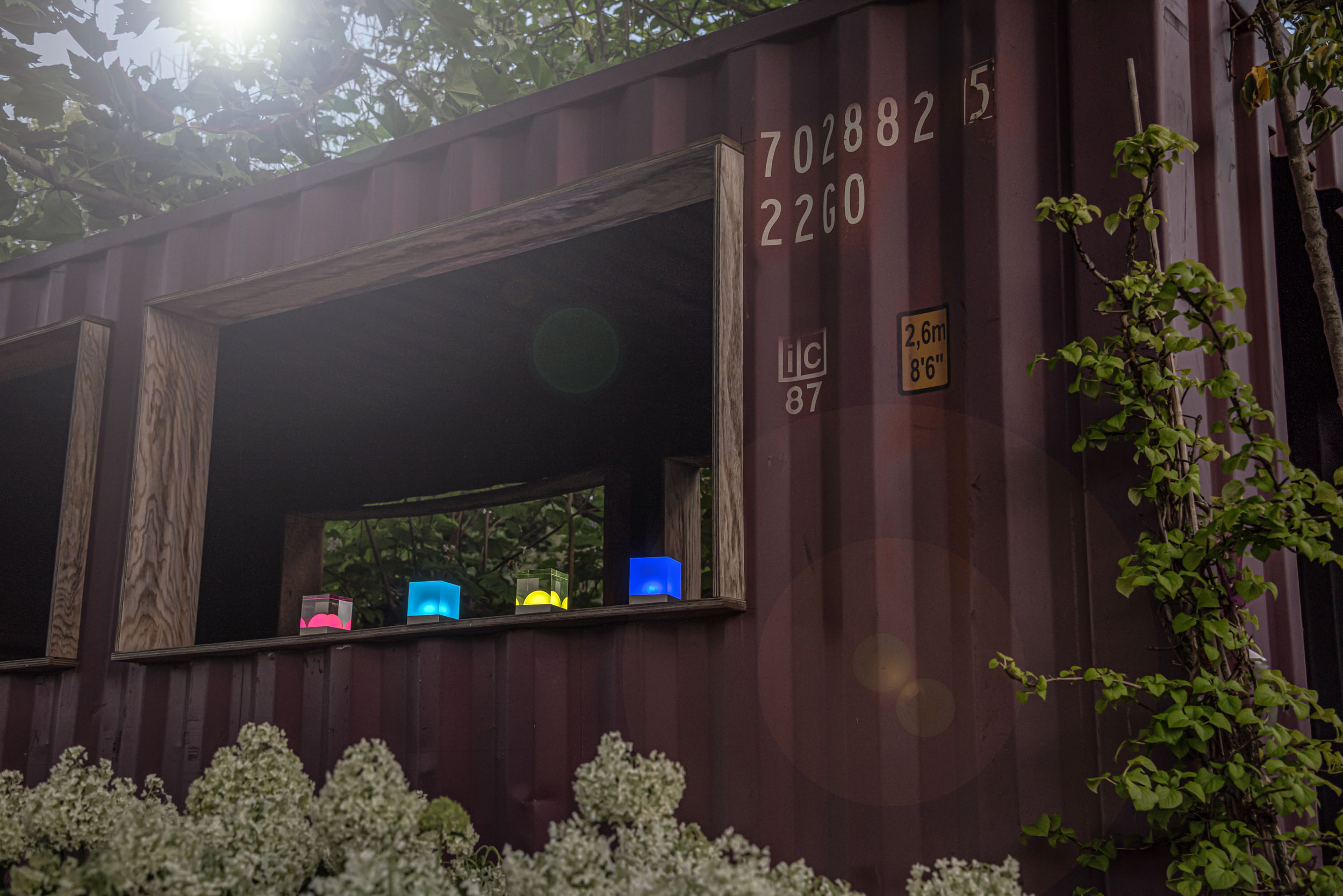 CUBE Outdoor Lichter für Garten Beleuchtung im Container
