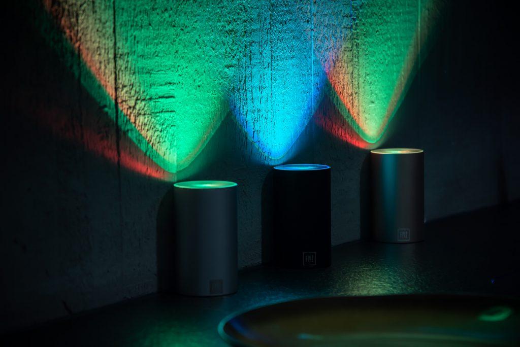 Kabellose Strahler LED Betonwand